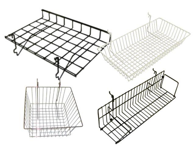 Gridwall and Slatgrid Baskets and Shelving