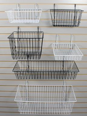 Slatwall Baskets, Brackets ,Shelves and Hangrails
