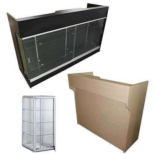 Showcases, Tables, Baskets, Shirt Cubes,Shelving Racks