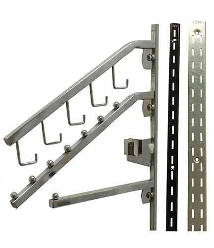 Wall Systems, Slotted Standards , Brackets, Shelving &Tubing