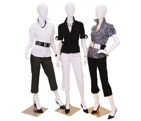 Female Mannequins with Heads