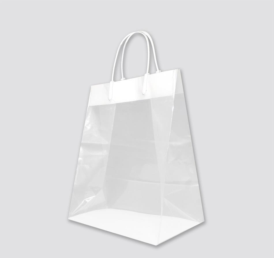 Small Clear Plastic Loop Shopping Bag | American Hanger ...