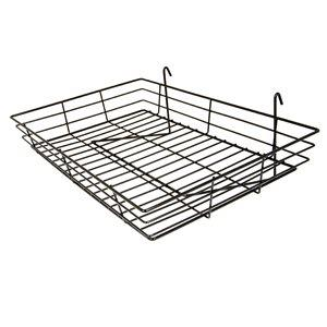 BLACK GRID BASKET FOR GRID WALL/ SLAT GRID