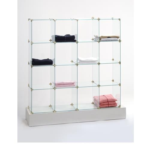 GLASS SHIRT CUBES UNITS 5' HIGH x 5' WIDE, CLOSED BACK